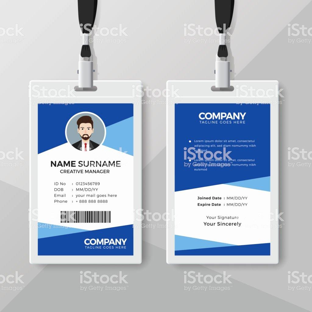 Employees Id Card Template Elegant Ilustración De Plantilla De Diseño De Tarjeta De