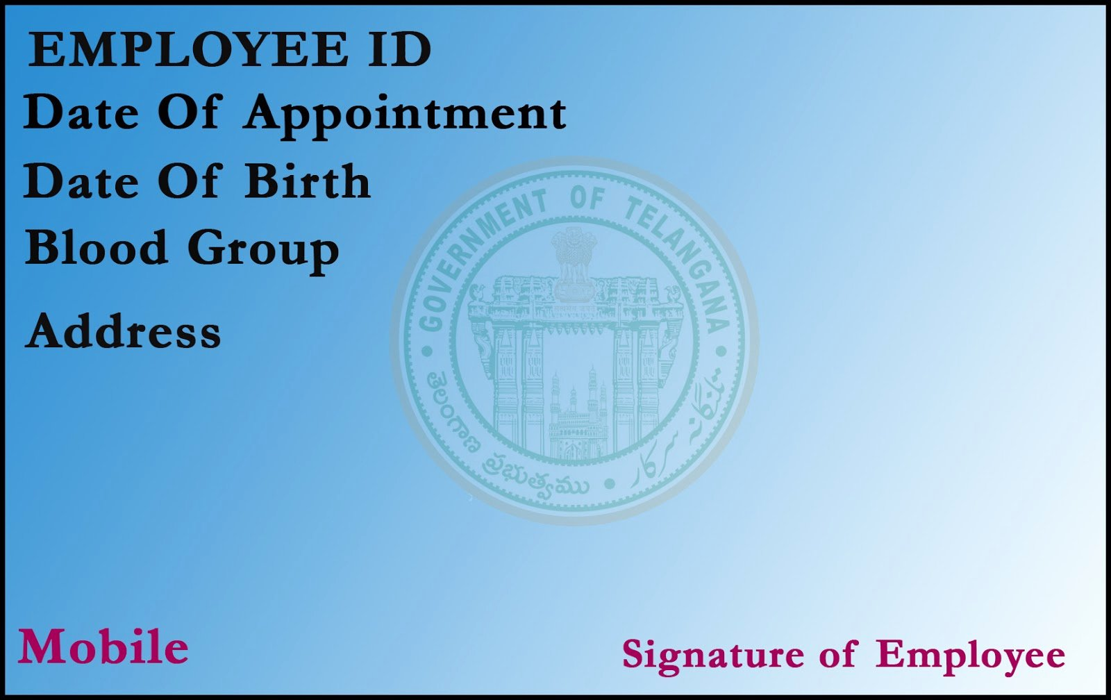Employees Id Card Template Elegant T R C Employee Id Card Template