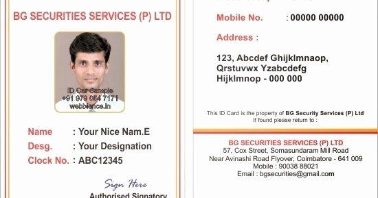 Employees Id Card Template Elegant Webbience Bordered Employee Id Card Templates