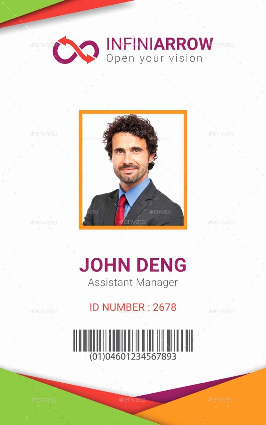 Employees Id Card Template Inspirational Employee Id Card Template Beepmunk
