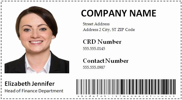 Employees Id Card Template Lovely Employee Id Card Templates Word format