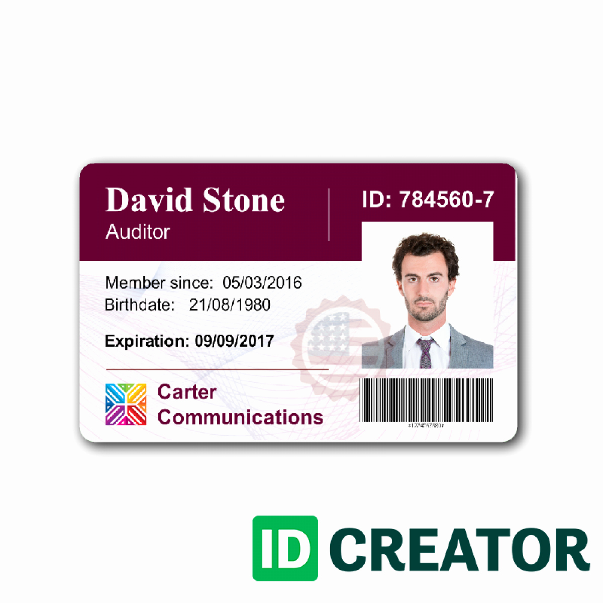 Employees Id Card Template Lovely Work Id Card Template Beautiful Template Design Ideas