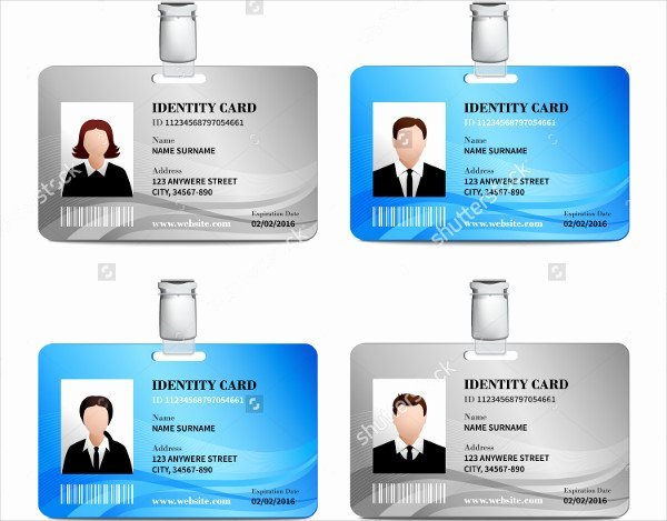 Employees Id Card Template New 32 Id Card Templates Psd Ai Word Pages