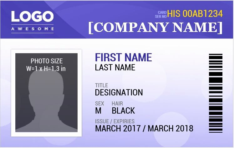 Employees Id Card Template New Employee Id Card Template Microsoft Word Templates Data