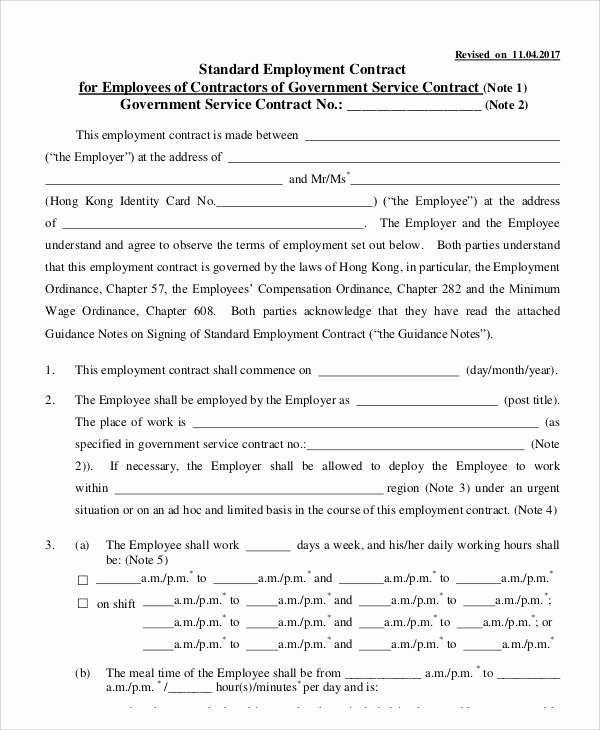 Employment Agreement Template Word Awesome 14 Employment Contract Templates Pages Google Docs