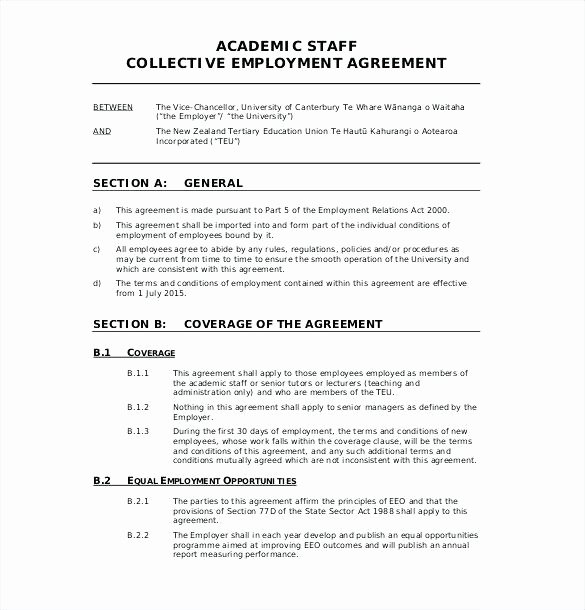 Employment Agreement Template Word New Employment Contract Sample Word Document – Jordanm