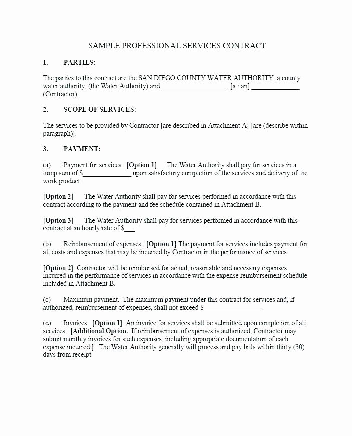 Employment Contract Template Word Fresh Simple Contract Template Word