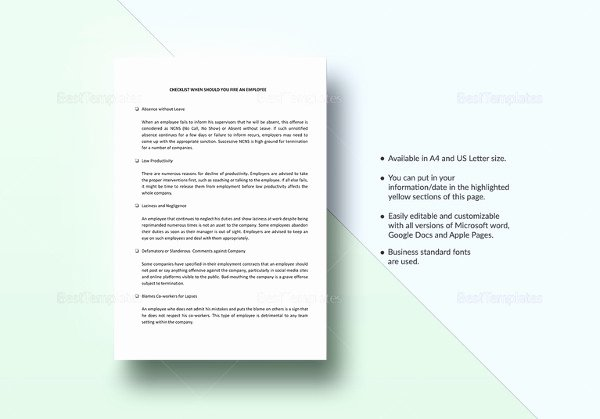 Employment Termination Checklist Template Best Of 26 Hr Checklist Templates Free Sample Example format