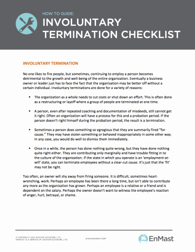 Employment Termination Checklist Template Best Of Employee Termination Checklist for Small Business