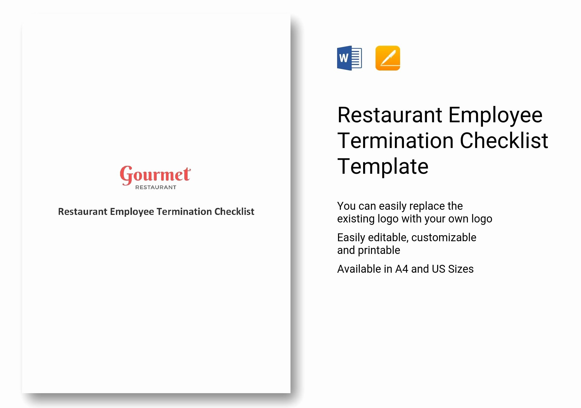 Employment Termination Checklist Template Inspirational Restaurant Employee Termination Checklist Template In Ms