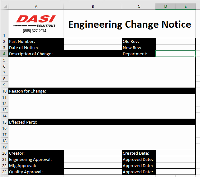 Engineering Change order Template Awesome solidworks Pdm forms Series Part 1 Excel Documents as