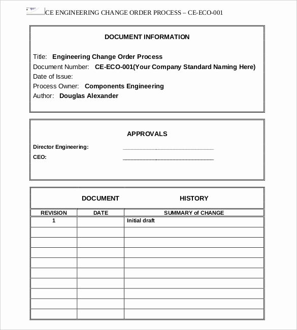 Engineering Change order Template Fresh 16 Change order Templates Word Pages