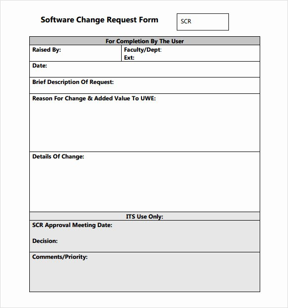 Engineering Change order Template Lovely Sample Change Request Template 9 Free Documents In Pdf