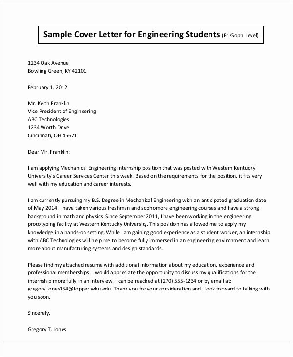 Engineering Covering Letter Template Awesome 32 Job Application Letter Samples