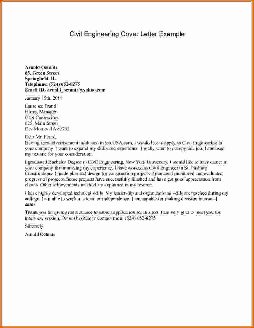 Engineering Covering Letter Template New 16 How to Write Cover Letter Engineering