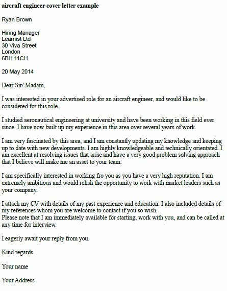 Engineering Covering Letter Template New Cover Letter Example Engineering Job