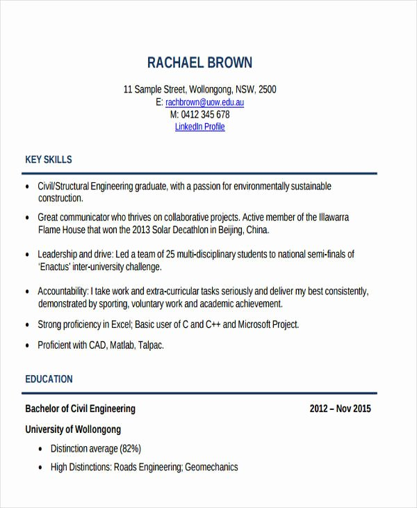Engineering Student Resume Template Awesome 25 Generic Engineering Resume Templates