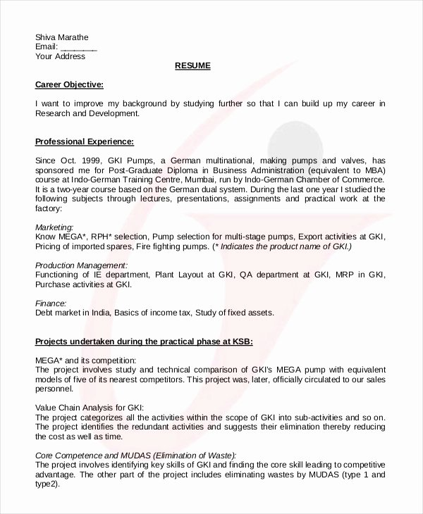 Engineering Student Resume Template Awesome College Student Resume 7 Free Word Pdf Documents