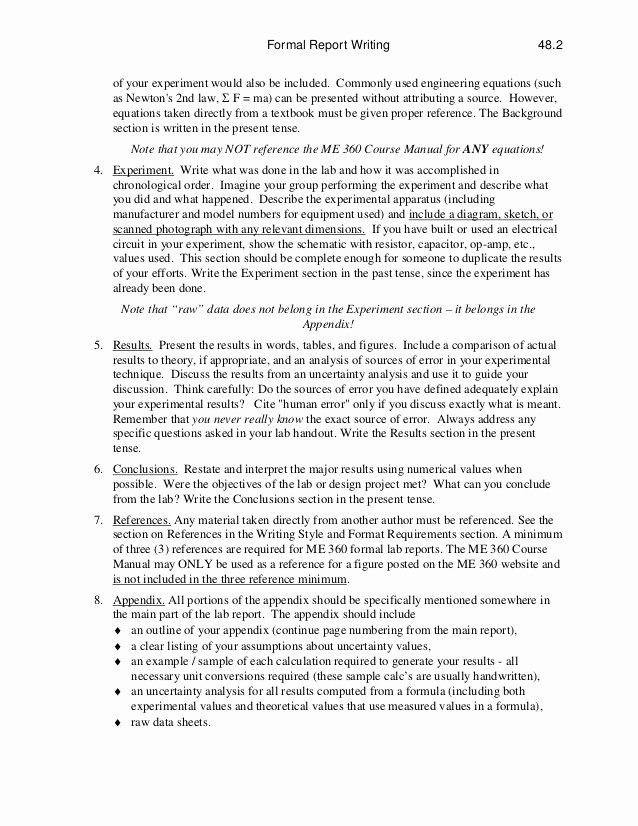 Engineering Technical Report Template Awesome Technical Report Writing