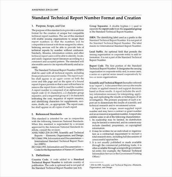 Engineering Technical Report Template Beautiful 8 Technical Report Templates Doc Pdf