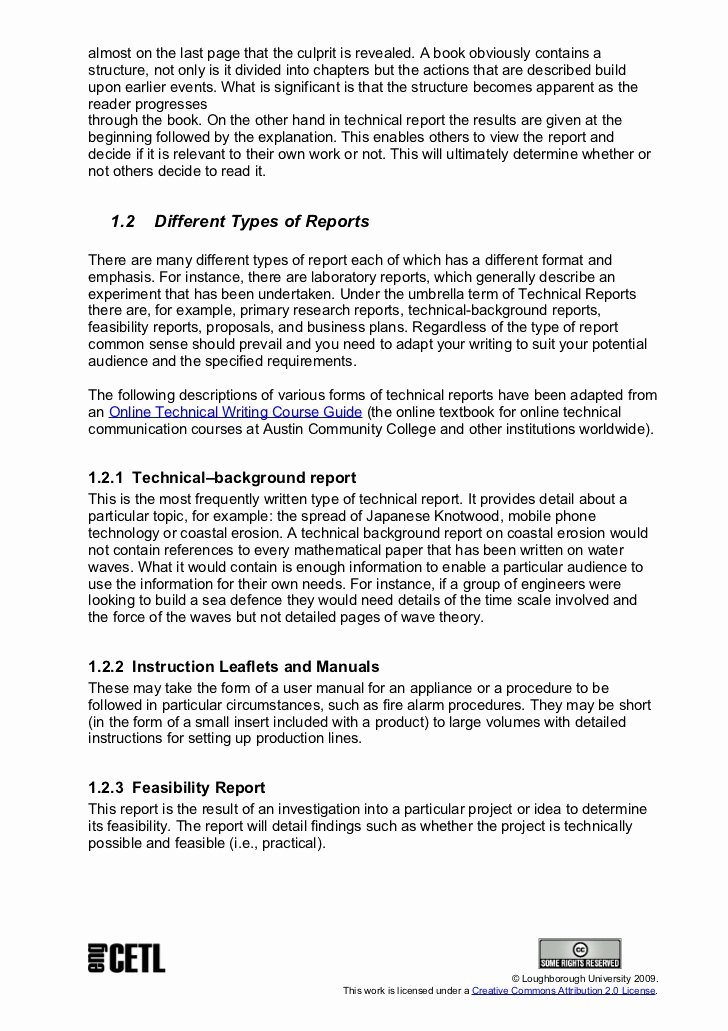 Engineering Technical Report Template Beautiful Technical Report Writing