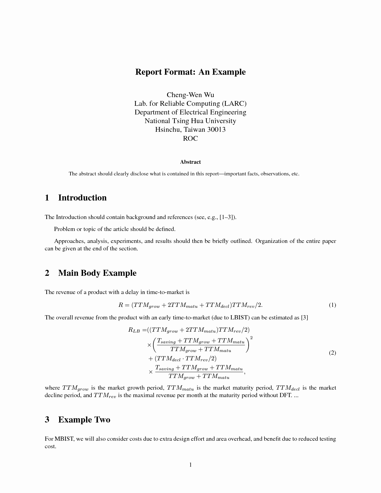 Engineering Technical Report Template Fresh Engineering Report Template