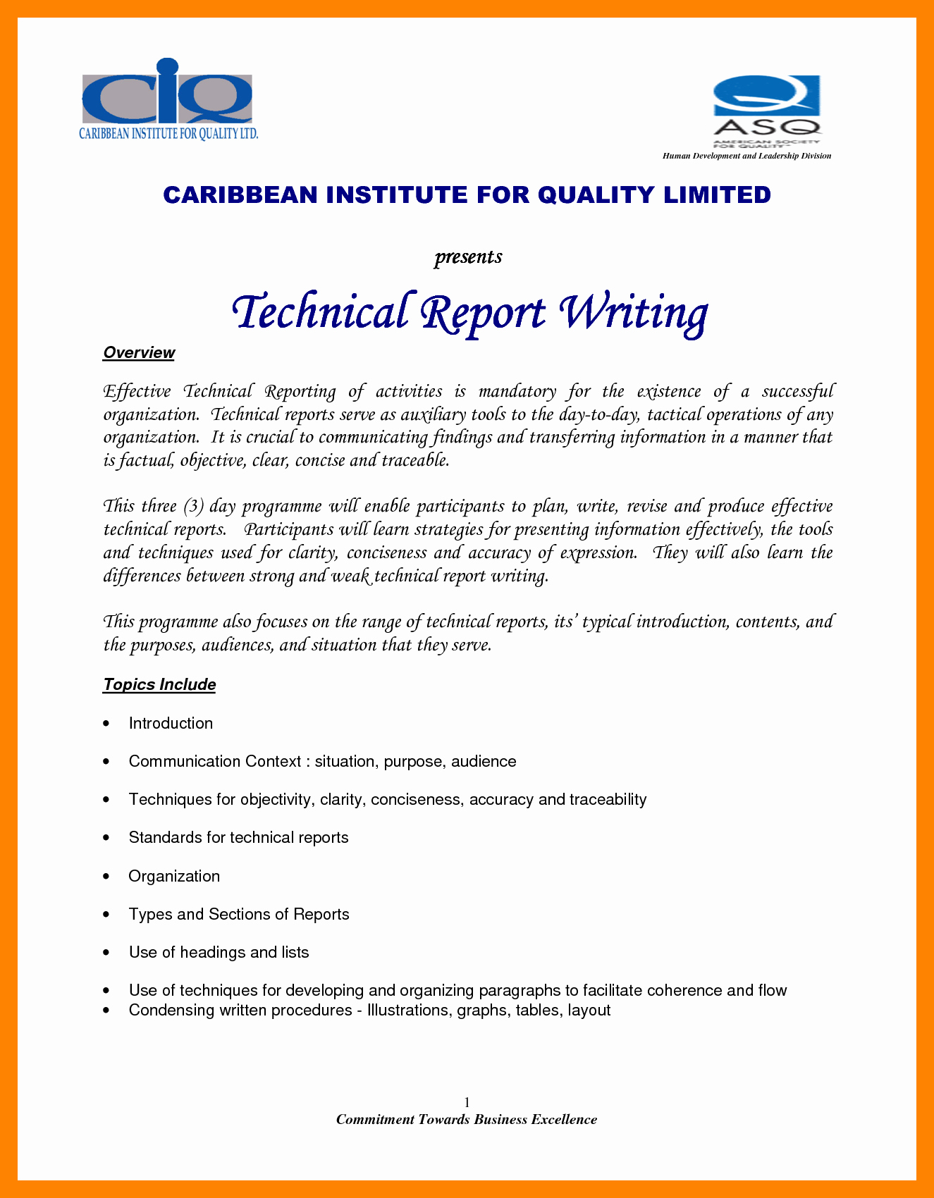Engineering Technical Report Template Lovely 8 Technical Report Writing Examples Pdf