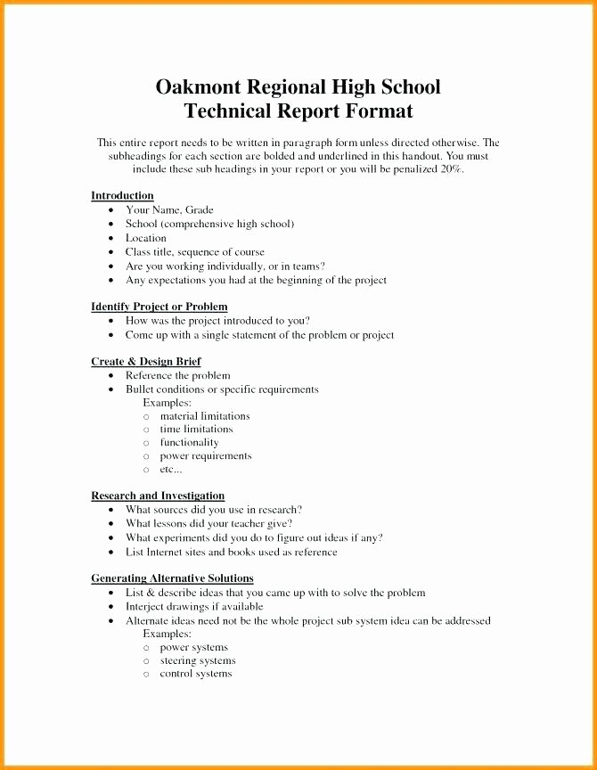 Engineering Technical Report Template Luxury Engineering Report format Template Engineering Lab Report