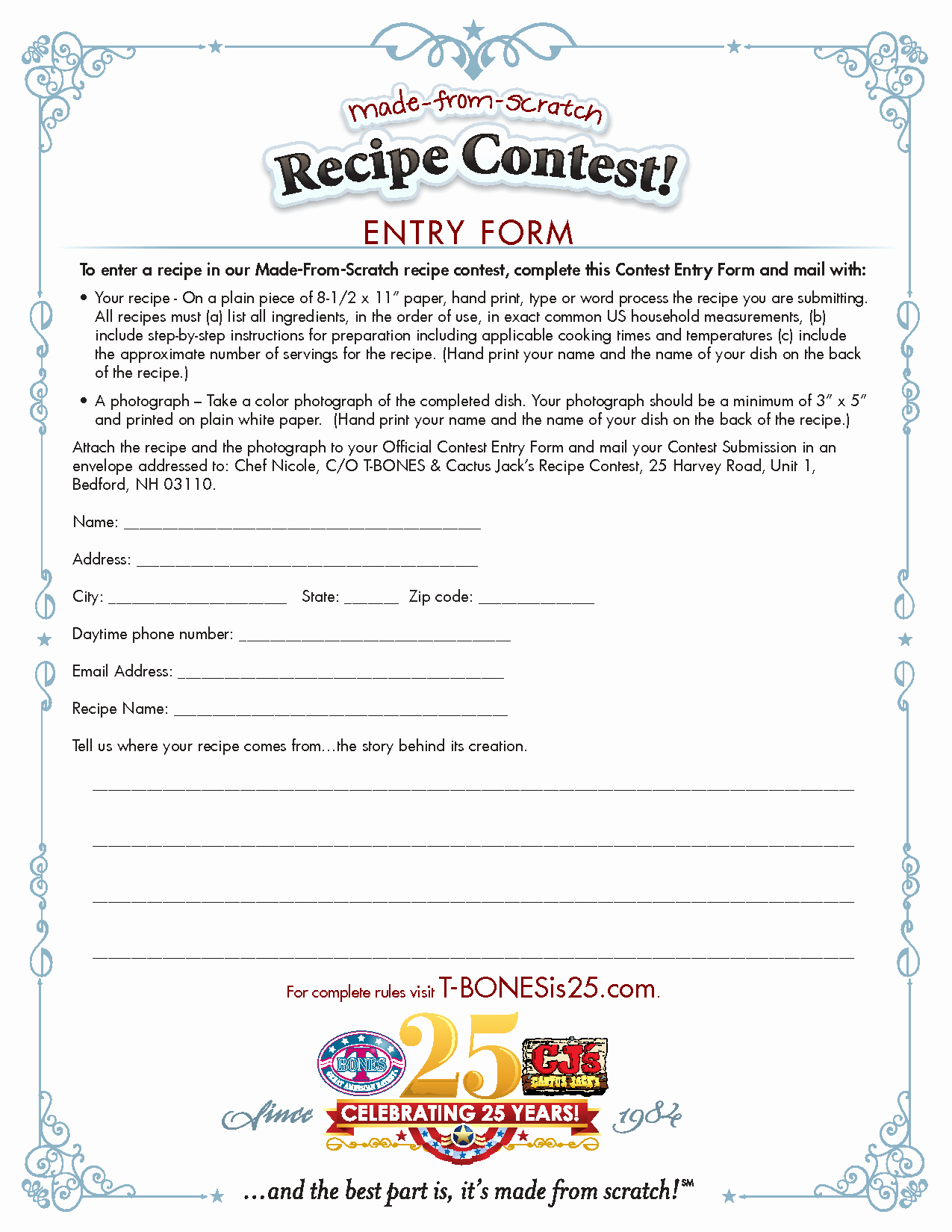 Entry form Template Word Beautiful Best S Of Word Template for Contest Free Contest