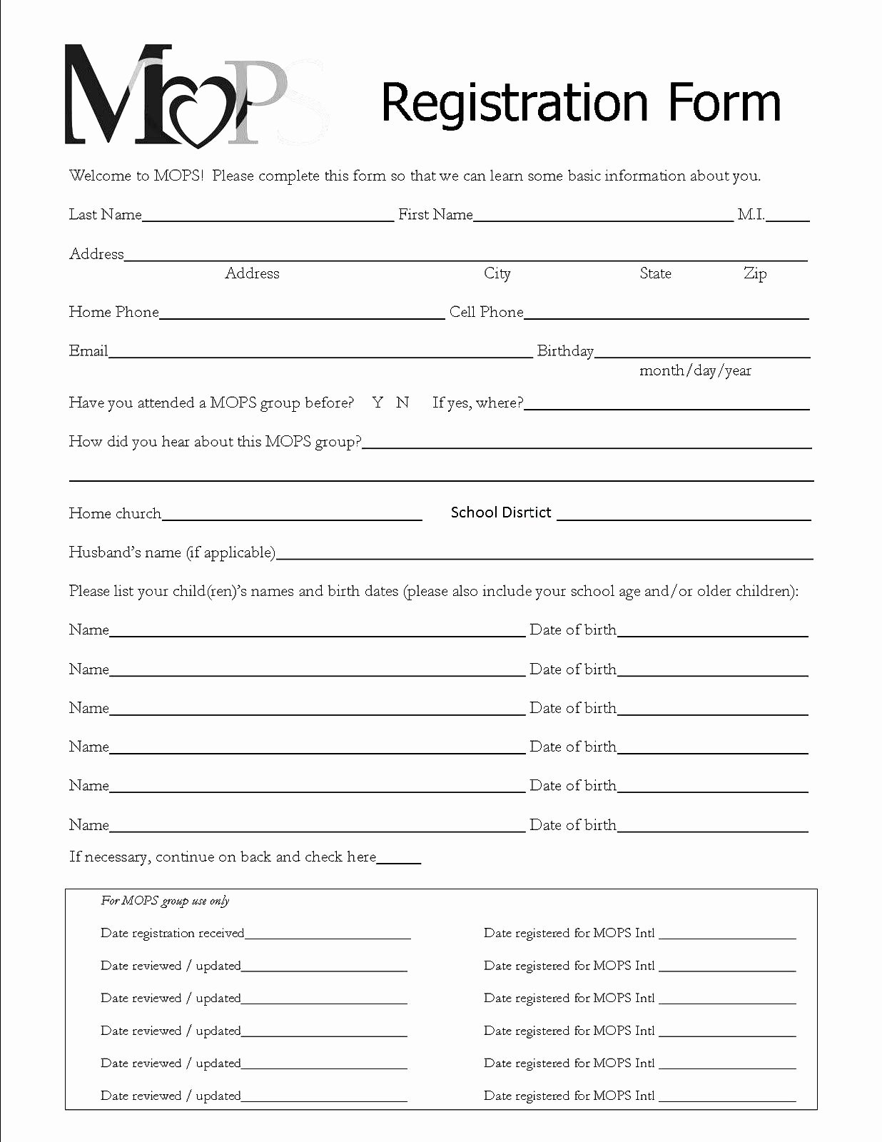 Entry form Template Word Unique Registration forms Template Free
