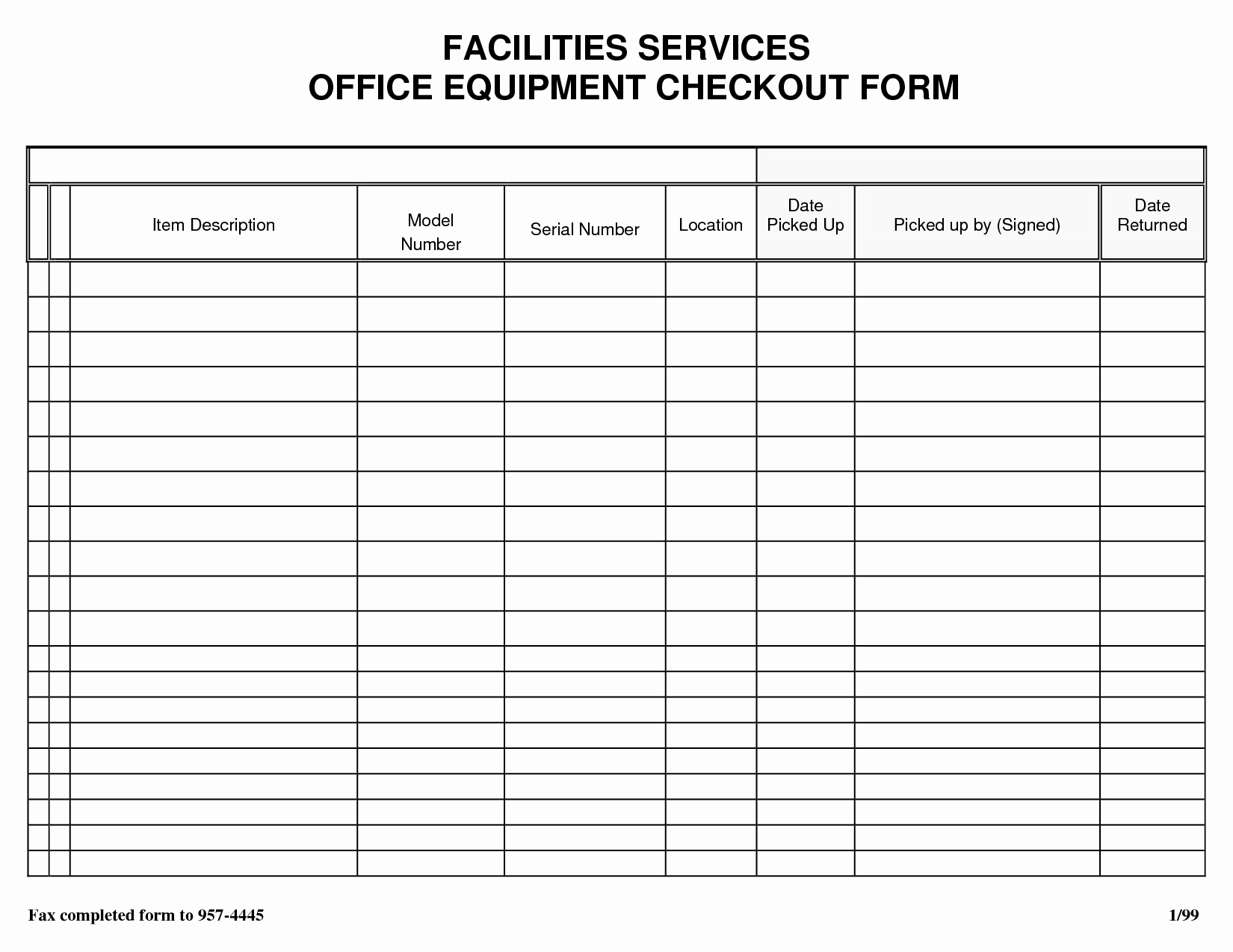 Equipment Checkout form Template Awesome Best S Of Equipment Check Out Sheet Template