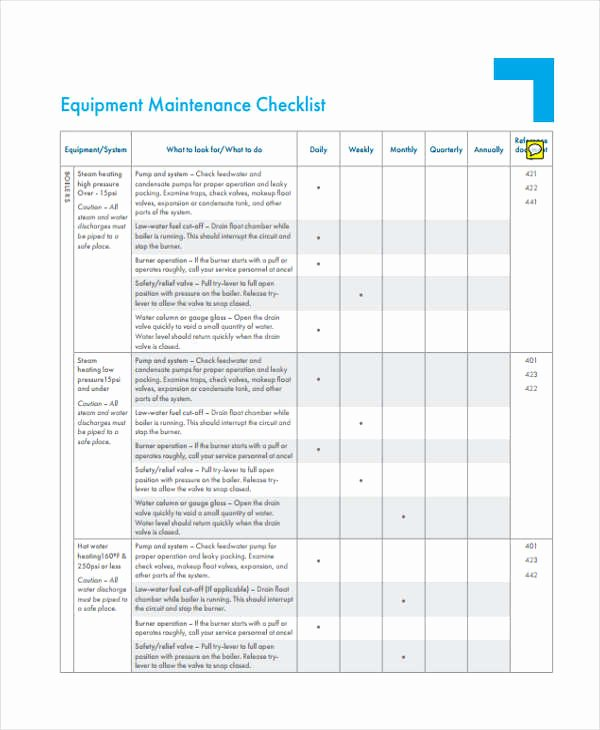 Equipment Inspection Checklist Template Awesome 32 Checklist Templates In Pdf