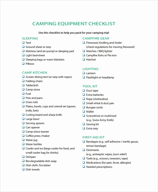 Equipment Inspection Checklist Template New 13 Equipment Checklists Pdf Word Excel Pages