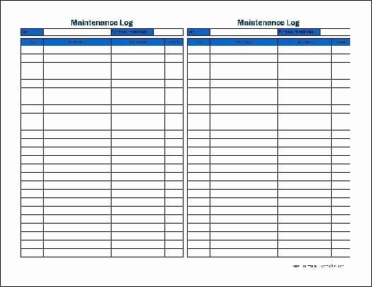 Equipment Maintenance Log Template Beautiful 5 Equipment Maintenance Log Templates – Word Templates