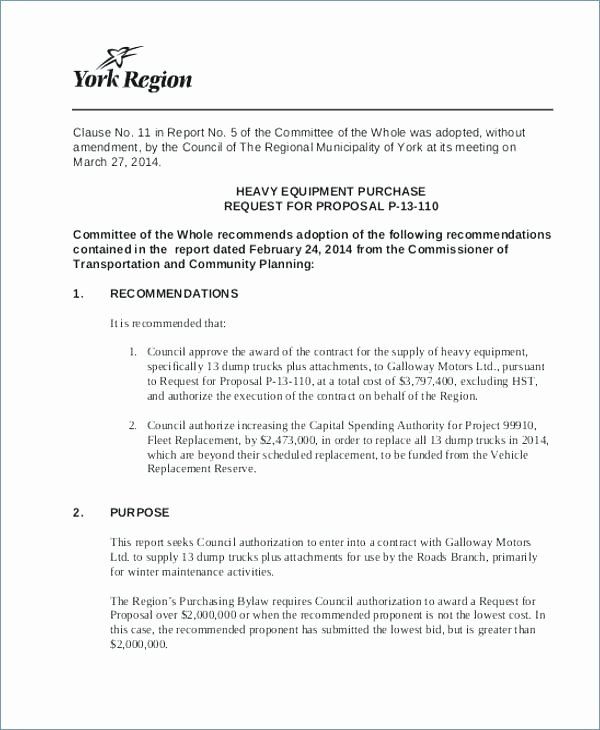 Equipment Purchase Proposal Template Elegant Concept Proposal Template Examples Samples Research A