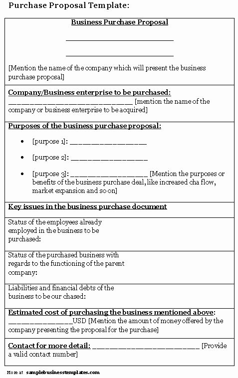 Equipment Purchase Proposal Template Inspirational 10 Best Of Purchase Proposal Template Business