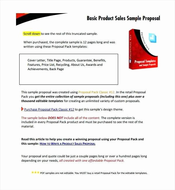 Equipment Purchase Proposal Template Inspirational Business Letter Sales Letter