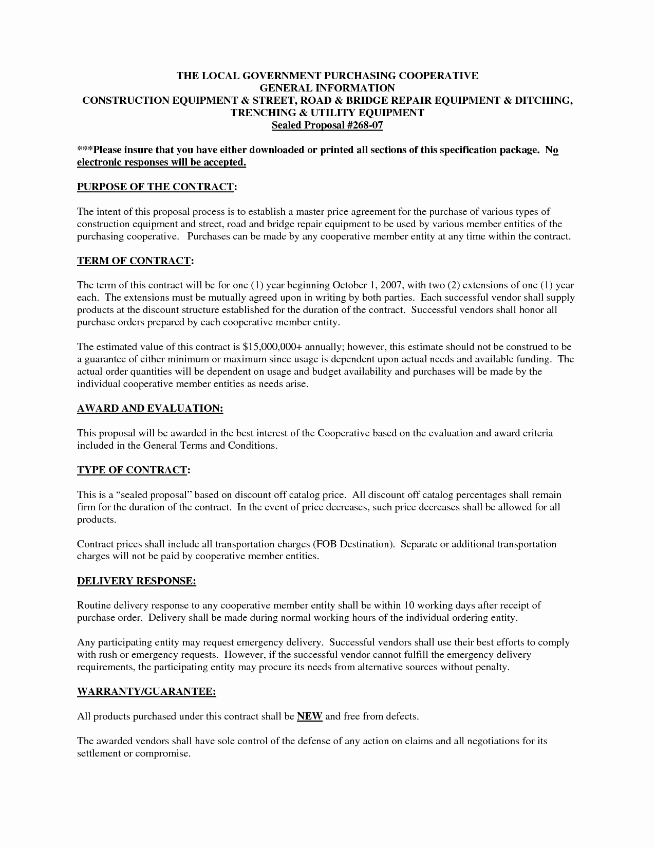 Equipment Purchase Proposal Template Lovely 8 Best Of Equipment Purchase Proposal Template
