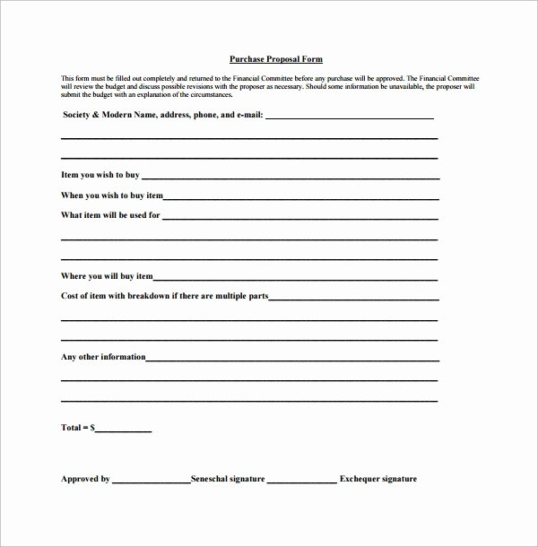 Equipment Purchase Proposal Template New 15 Purchase Proposal Templates
