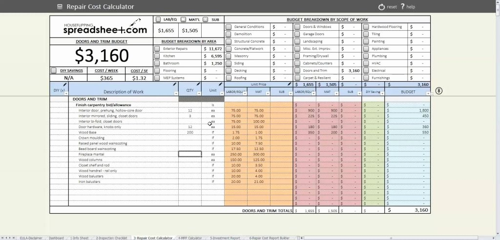 Estate Accounting Excel Template Awesome Sheet Worksheet House Flipping Costadsheet Inspiration