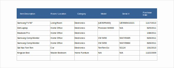 Estate Accounting Excel Template Inspirational 14 Estate Inventory Templates – Free Sample Example