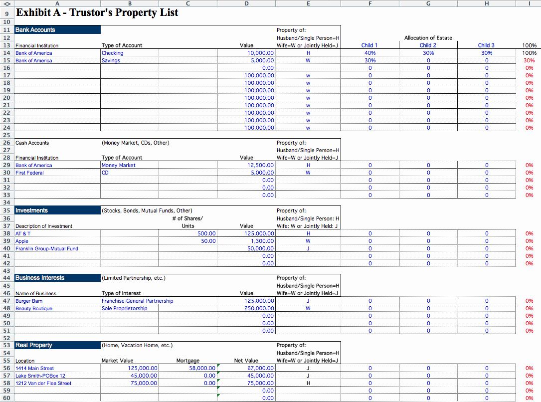 Estate Accounting Excel Template Inspirational Estate Executor Spreadsheet Laobing Kaisuo