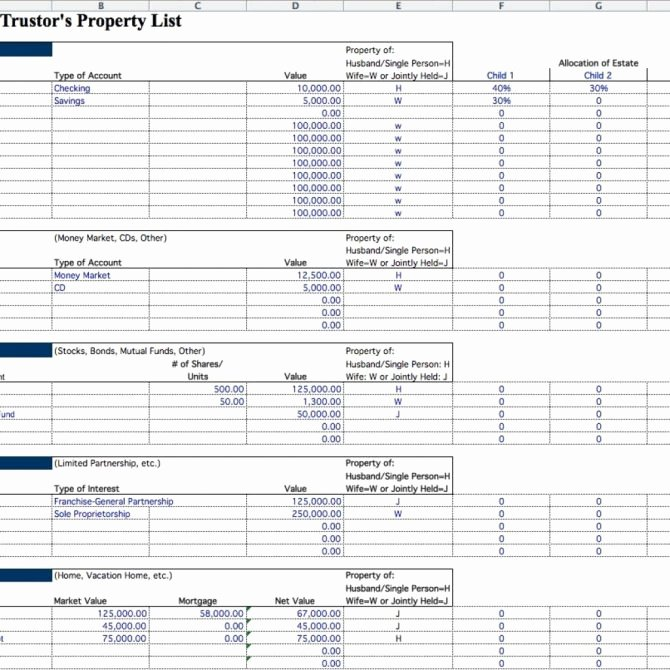 Estate Planning Worksheet Template Luxury 10 Estate Inventory Examples Pdf