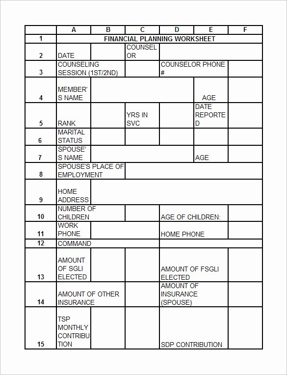 Estate Planning Worksheet Template New 20 Free Estate Planning Worksheet – Diocesisdemonteria