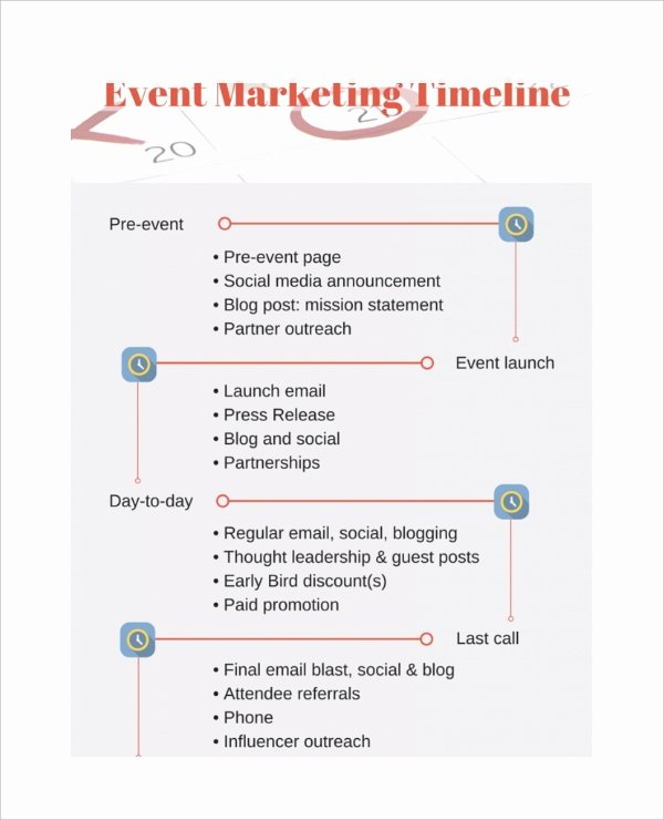Event Marketing Plan Template Inspirational 7 Marketing Timeline Templates – Free Sample Example
