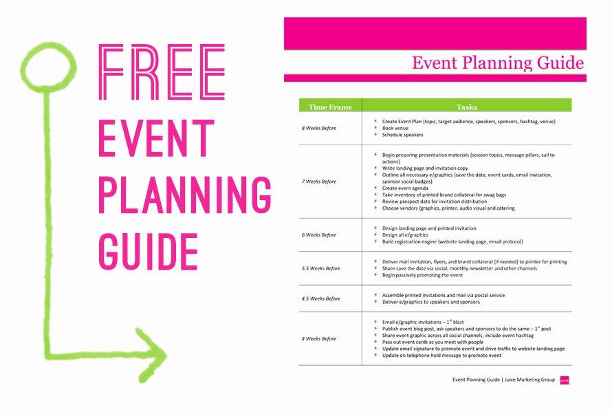 Event Marketing Plan Template Inspirational Free event Planning Guide Juice Marketing Group