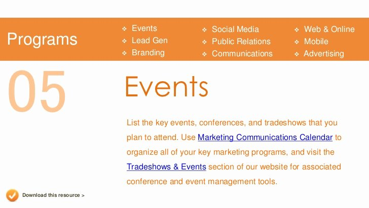 Event Marketing Plan Template Unique Marketing Plan Presentation Template