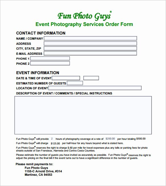Event Photography Contract Template Awesome Graphy Contract Template – 10 Free Word Pdf