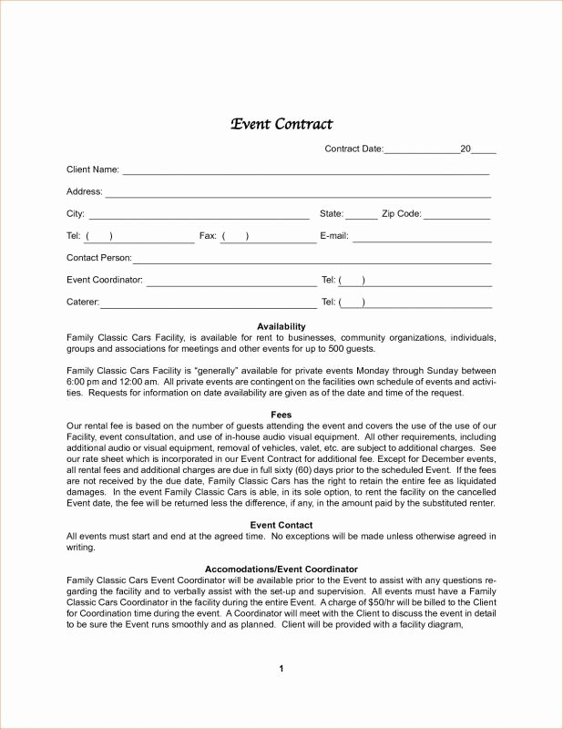 Event Photography Contract Template Elegant Graphy Contract Template