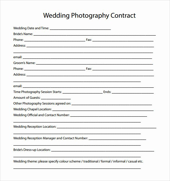 Event Photography Contract Template Fresh Wedding Graphy Contract Template 14 Download Free